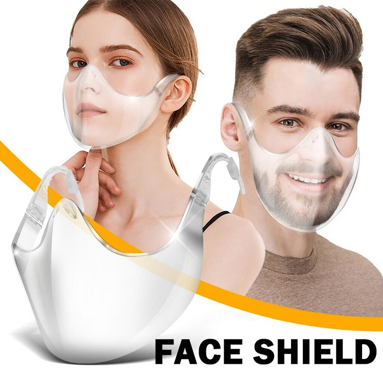 ZHANGYUGE 2020 New Radical Alternative Transparent Shield Comfort Cover Stylish Clear Shield Without Ear Loops