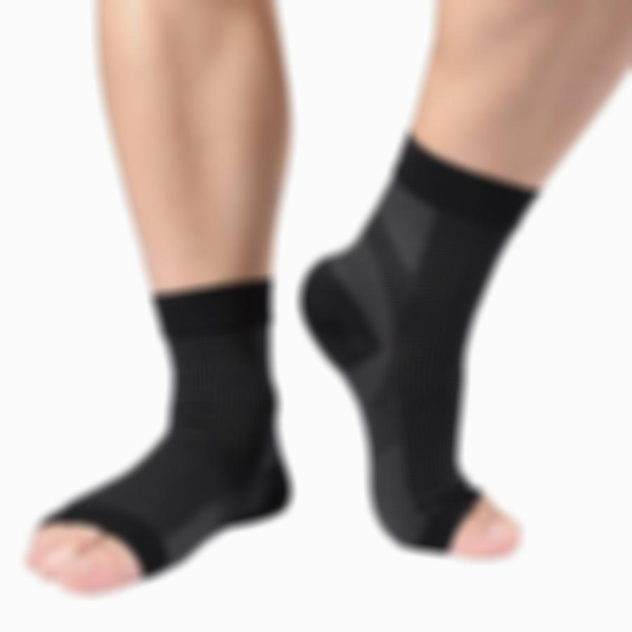 Kisslay Anti-fatigue Compression Foot Socks with Heel Arch Ankle Support